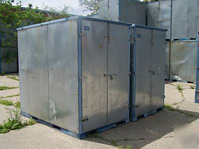 5 x 8 x 8 ft steel storage container tool job box pods