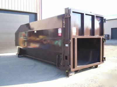 40 yard rolloff roll off trash compactor container