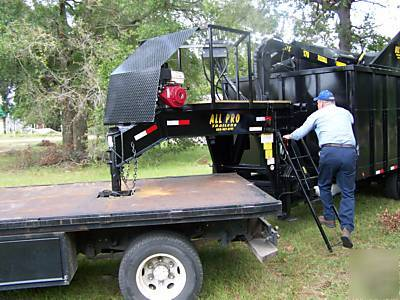 New All Pro Dump Trailer Grapple Trash Cargo Enclosed