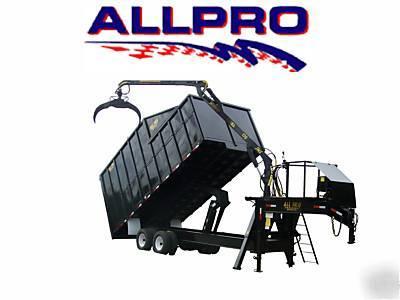 All Pro Trailers >> All Pro Dump Trailer Grapple Trash Cargo Enclosed